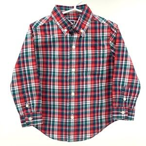 Janie and Jack Shirts & Tops - Janie and Jack Button Down Shirt 2T Red Green
